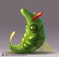 Kanto - Metapod by ArtKitt-Creations