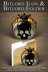Bitlord Icon and Folder by arcanamoon