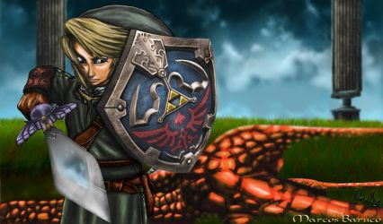 Link vs Argorok by marcosbaruco