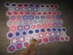 Crocheted Flowers Baby Blanket by crazycolleeny