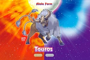 Alolan Tauros - Steel ground Ken sugimori style by logancure