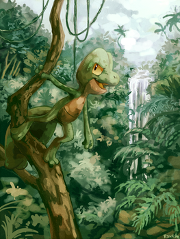 Jungle Adventures With Treecko by RileyKitty