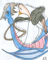 Story of an ostrich and a drag by Debra-Marie