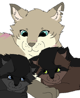 Softfur and her girls by Nuller4444