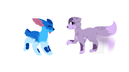 Lineless pups by DovahCourts