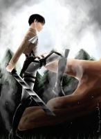 Levi and Titan Eren by because--why--not