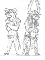 Badass bovines by BlueRavenfire