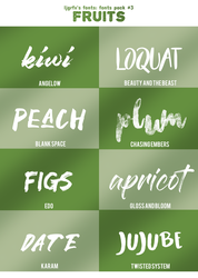 Fontspack#3 Fruits by ljgrfx