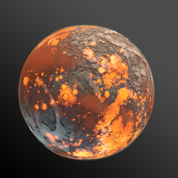 Lava Planet Render 000 by nzly