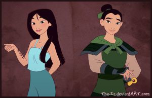 Mulan Times Two by The-Ez