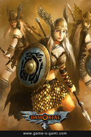 Immortal - Valkyries - card game illustration by gameogami