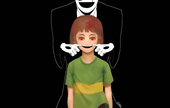 gaster and chara by KORHIPER