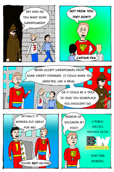 Captain PSA #7: Back Alley Powers by ShadowWingTronix