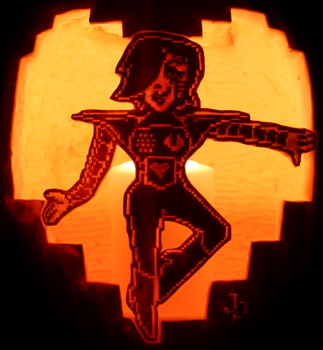 The Audience Deserves a Good Show-Mettaton Pumpkin by johwee