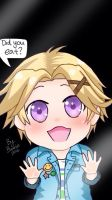 Mystic Messenger: Yoosung stuck behind glass by iambunnie