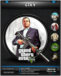 Grand Theft Auto V - Game Icon by 3xhumed
