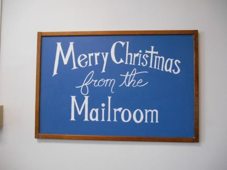 Merry Christmas: Quickie Chalkboard by GetToTheLibrary
