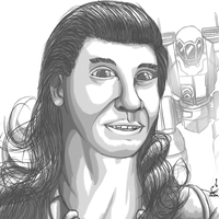 MechWarrior Portrait Jesus Martinez 'Niebla' by prdarkfox