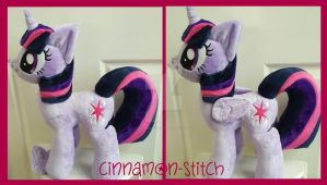 mlp Twilight Sparkle Plushie magnet wings by CINNAMON-STITCH