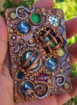 Mosaic polymer clay ACEO 2D by MandarinMoon