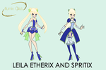 Concept Art #3: Etherix and Spritix by Akatoh