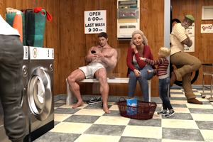 Wash day at the Laundromat by MGMOZ