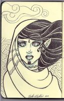 Elf Girl - Moleskine by ChristinaBledsoe