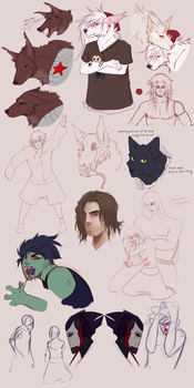 Sketchdump July the Second by silent-hiII