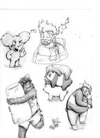 We Bare Bears Doodle Dump by ASmallOne
