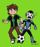 Ben and Rook play like kids by 4eknight11