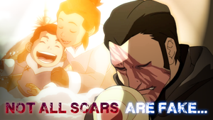 The Legend of Korra - Not all scars are fake... by yourparodies