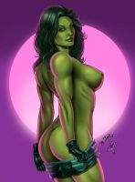 She Hulk color by DyegoJack