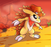Sunset Sandslash by HyperionNova