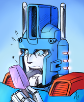 Ultra Magnus .:Sketch by BTFly009:. by Prismatic-Machine