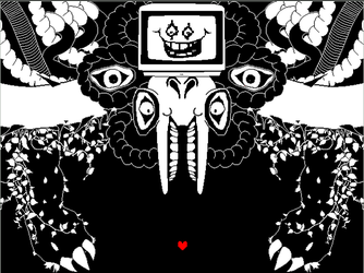 Omega Flowey Sprite(Black and White) by Never0ff