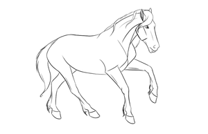 Free horse lineart by Valvador