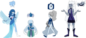 SU Blue themed Back Gem Adopts (2/4 OPEN) by SmilesUpsideDown