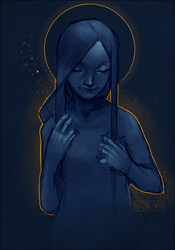 Blue and golden by Naomi024