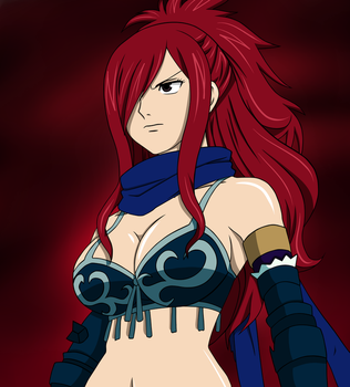 Erza Knightwalker by dizzkitty