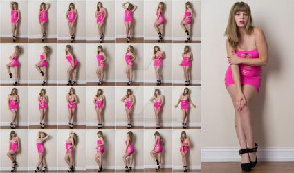 Stock: Corrine Pink Dress Standing - 28 Images by stockphotosource