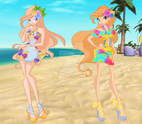 [G]:Anna and Diana Aloha Chic by DreamofWinx