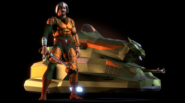 MOTU - Man-At-Arms II and the Sky Sled 2 by paulrich