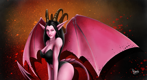 Succubus - Colored by Kangaroo-King