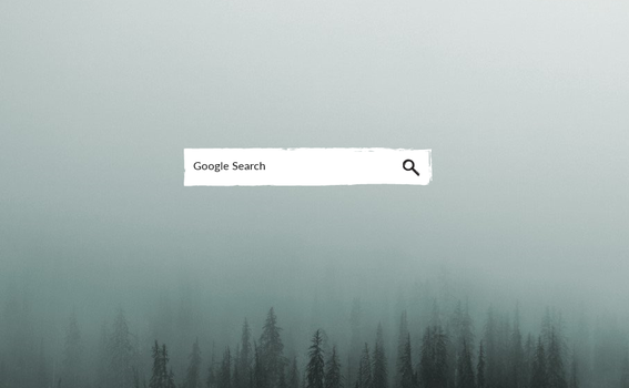 Charcoal Search [Rainmeter Skin for google search] by MunaNazzal