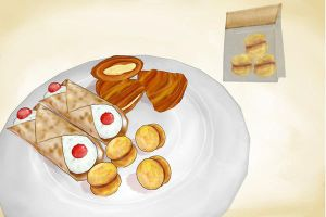 italian cakes and crepes and stuff MMD download by Hack-Girl