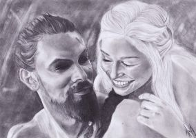 Khal and Daenerys by MissDiscordia