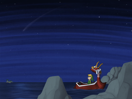 Wind Waker: Star Gazing by Icy-Snowflakes