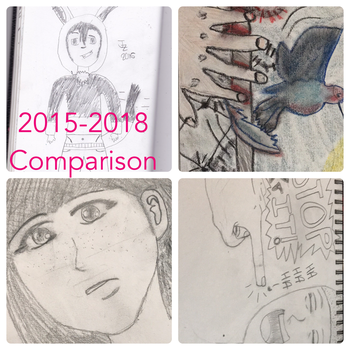 My Art Now Compared To The Past by ShutUpAndDanceWithMe