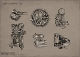 Mechanical Studies by MikeCoombsArt