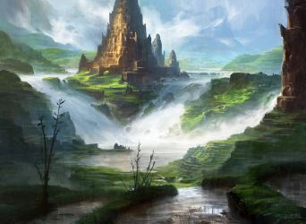 Island (Water Temple) by AdamPaquette